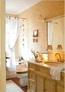 Phòng tắm đơn giản không xa hoa