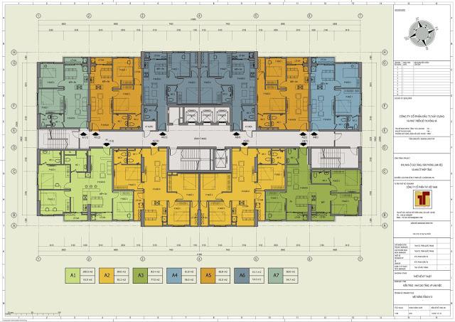 mặt bằng thiết kế điển hình dự án 89 thịnh liệt