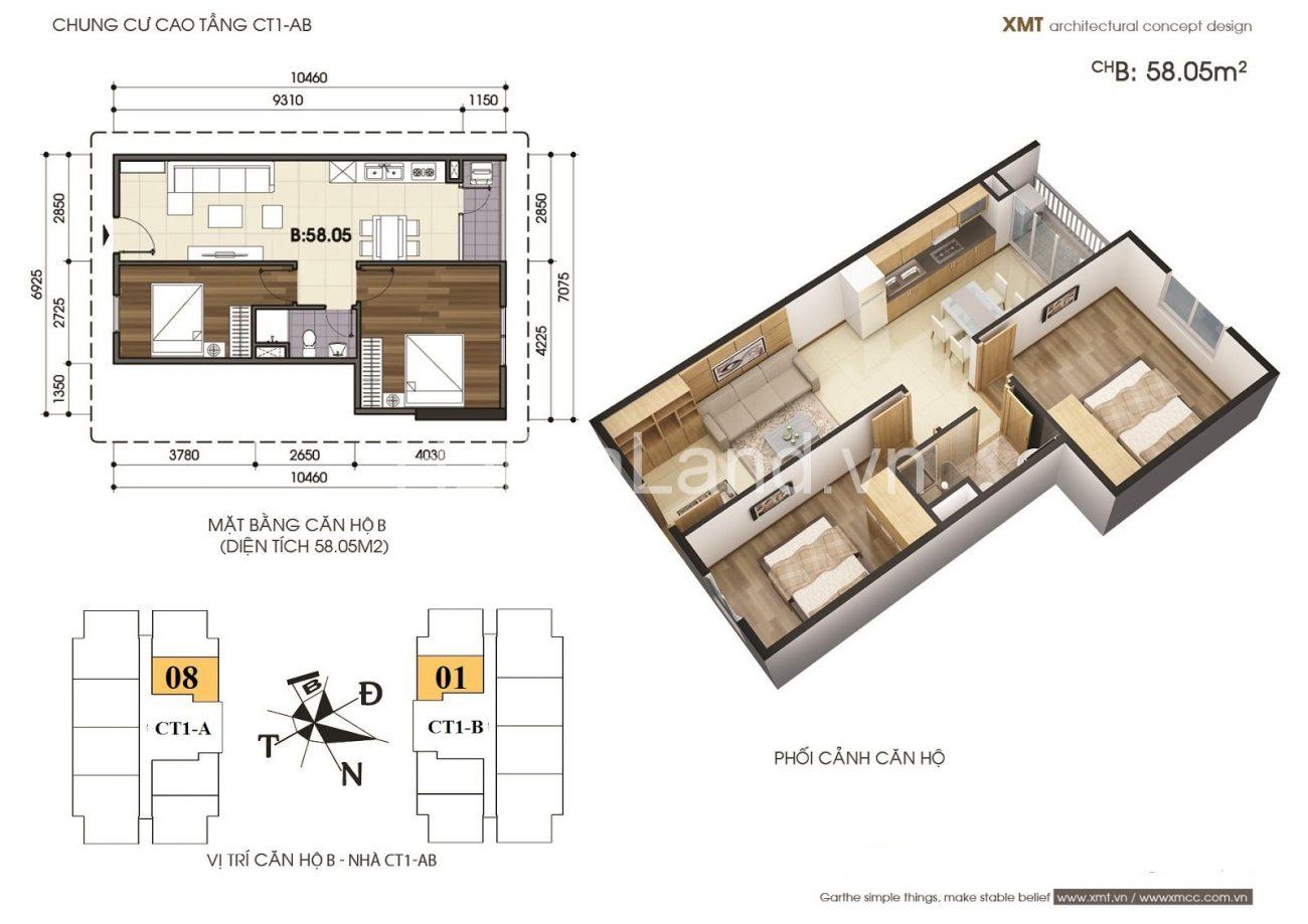 cần bán căn hộ 58m2 chung cư vov mễ trì