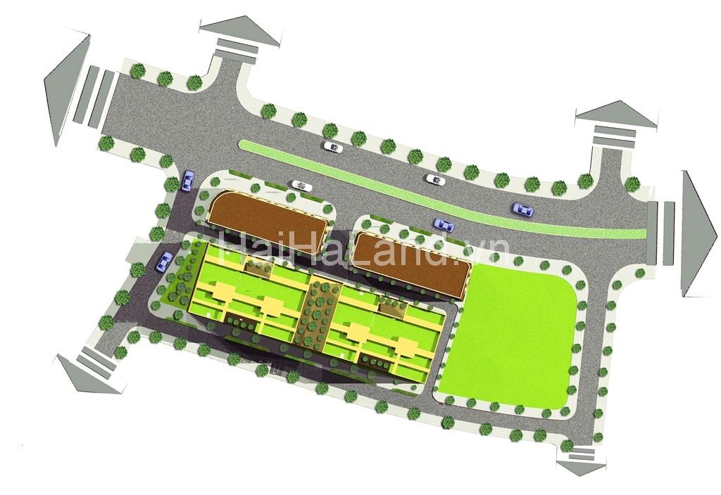 phối cảnh mặt cắt trên cao dự án kinh bắc plaza