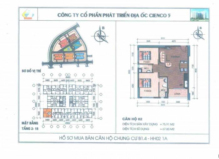 Mặt bằng điển hình căn hộ số 02 và 14