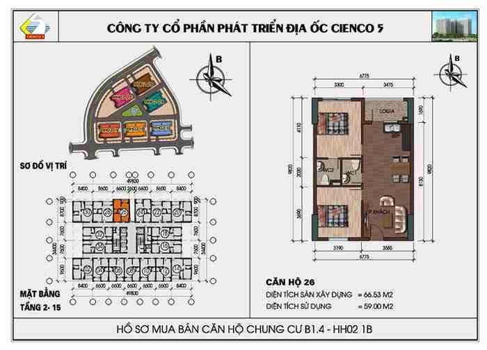 thiết kế điển hình căn hộ 26 28