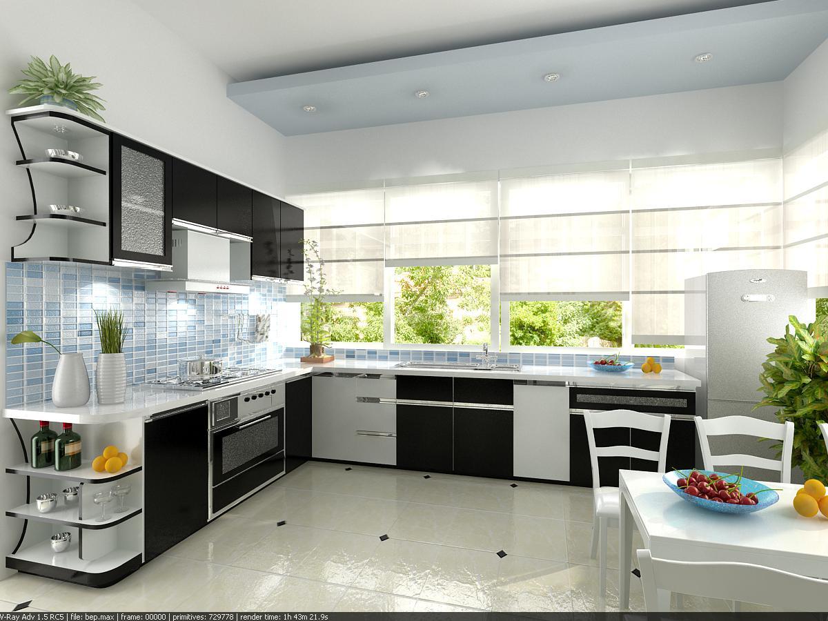 Tránh thiết kế bếp thẳng cửa chính