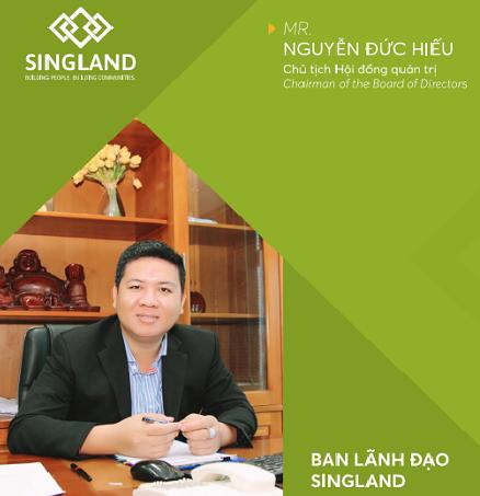 Mr Nguyễn Đức Hiếu Chủ tịch Hội đồng quản trị chủ đầu tư Sing Garden