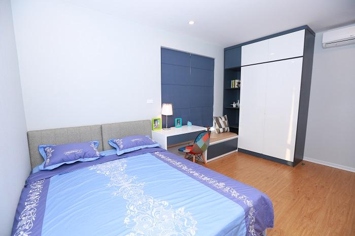 phòng ngủ tại căn hộ chung cư goldsilk complex với kiến trúc hiện đại sẽ mang lại cho chủ nhân những giấc ngủ tuyệt vời