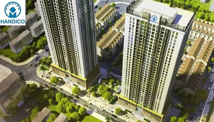 Phối cảnh toà tháp chung cư A10 Nam Trung Yên Nguyễn Chánh
