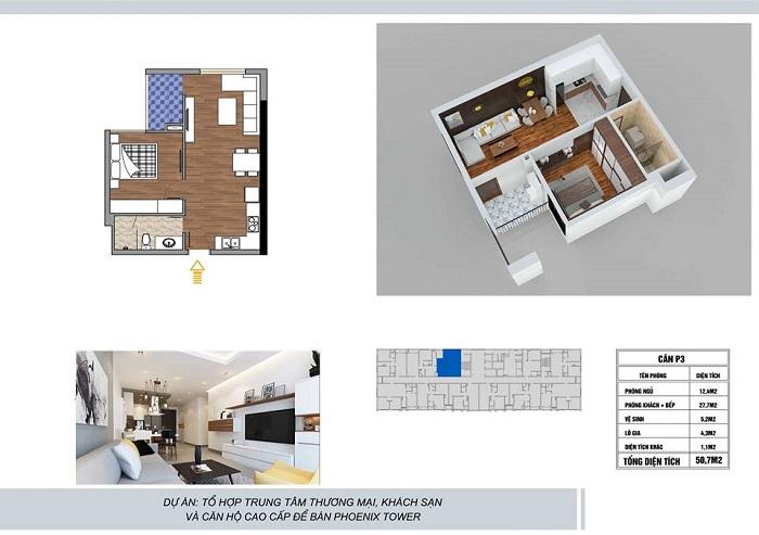 ảnh thiết kế căn hộ chung cư Phoenix Tower Bắc Ninh