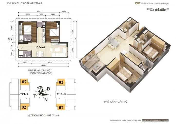 Ảnh thiết kế căn hộ chung cư vov mễ trì cần bán