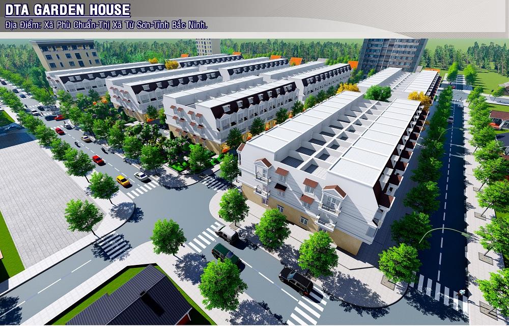 Hình ảnh về dãy nhà phố liền kề dự án Garden House Bắc Ninh