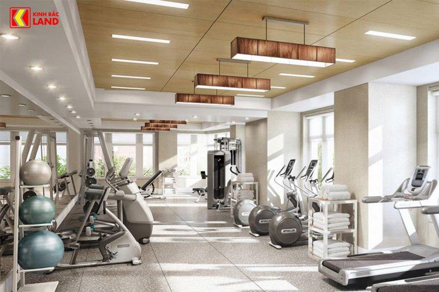 đầy đủ phòng gym, yoga...