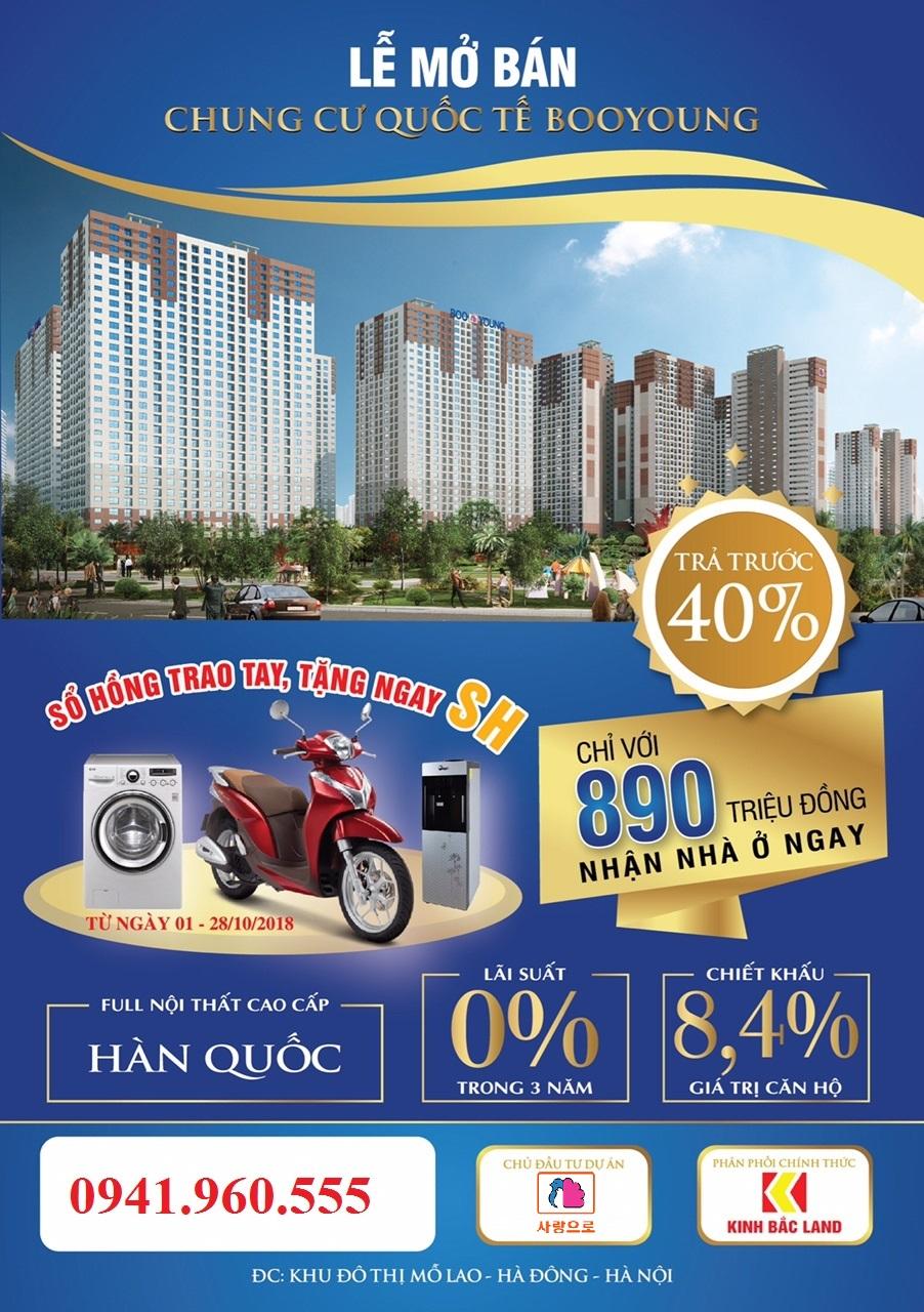 Mở bán căn hộ CT7 và CT4 Chung Cư Booyoung