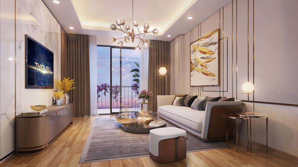 Nội thất phòng khách dự án epic's home Phạm Văn Đồng11