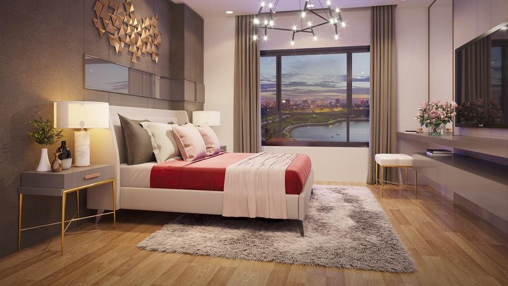 Thiết kế nội thất phòng ngủ chung cư ariyana lakesie