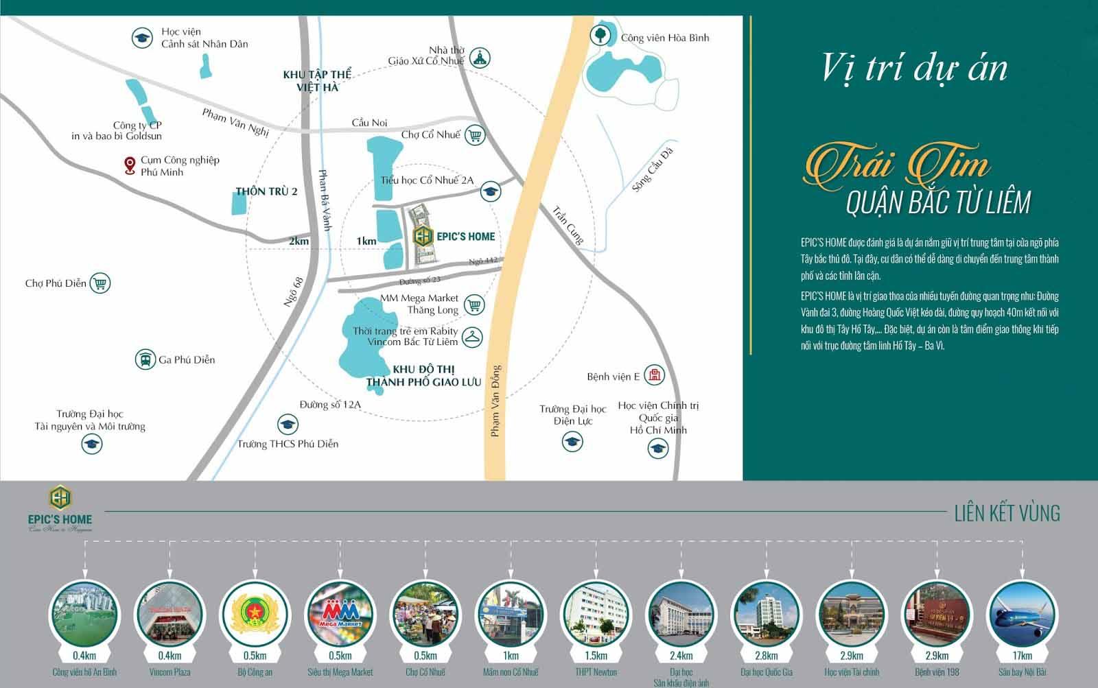 Vị trí dự án epic's home Phạm Văn Đồng1