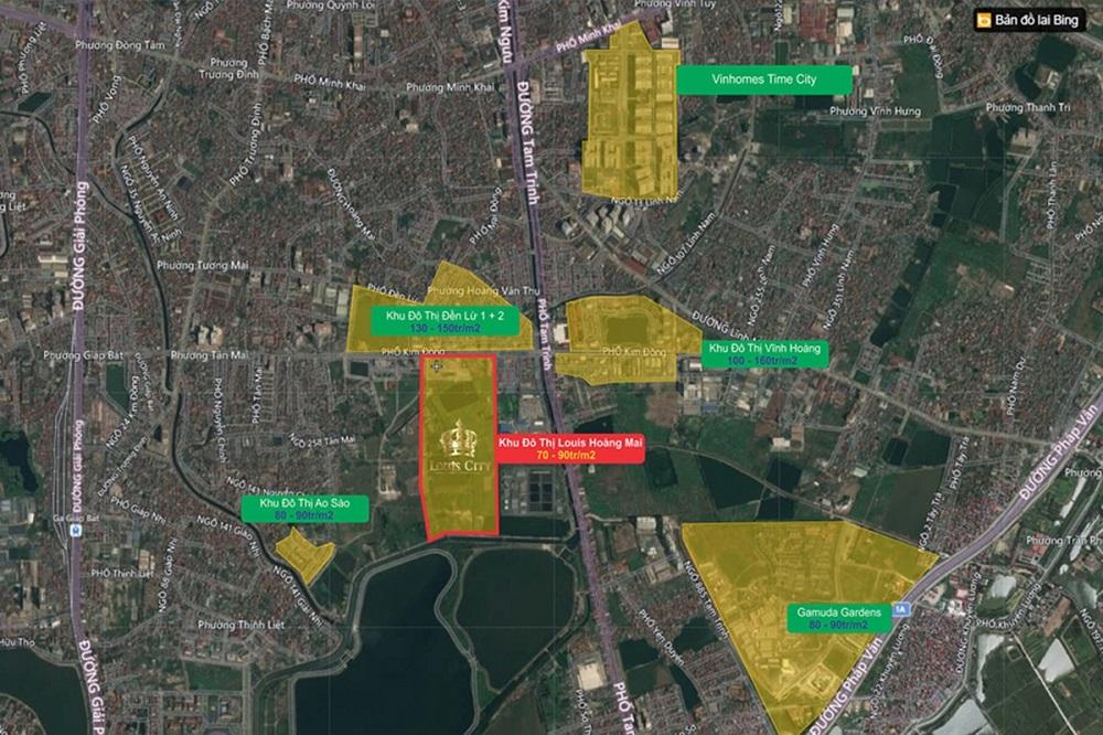 vị trí dự án louis city tân mai hoàng mai hà nội