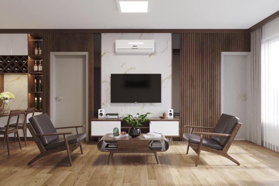 Thiết kế phòng khách chung cư ariyana lakesie