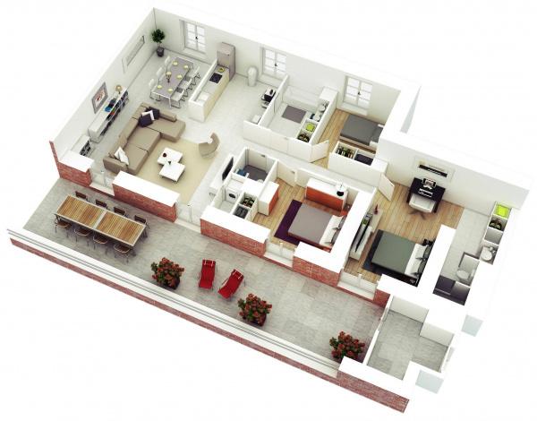 Thiết kế căn hộ chung cư có thể gặp vấn đề phong thủy